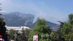 Ялта. Спасибо МЧС России за спасение леса от пожара.